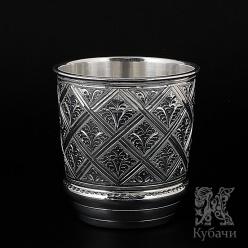 1 Стакан из чистого серебра «Ромбический» 960 пробы (арт 9990152(33))