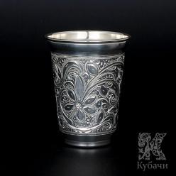 Стакан из чистого серебра «Соцветие» 999 пробы (арт 9990152(22))